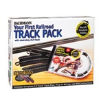 Bachmann 44497 HO Your First Railroad Track Pack E-Z Track System 160-44497