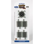 Bachmann 44541 HO Crossing w/Nickel Rail & Roadbed E-Z Track 90-Degree