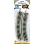 "Bachmann 44549 On30 Reversing System E-Z Track 18"" Radius Curved w/Nickel Rail & Roadbed pkg 4"