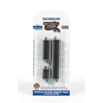 Bachmann 44829 N Straight Track w/Nickel Rail & Roadbed E-Z Track Assorted Short Sections Pkg 6