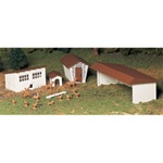 Bachmann 45604 O Plasticville U.S.A. Classic Kits Farm Out-Buildings pkg 3 160-45604