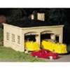 Bachmann 45610 O Plasticville U.S.A. Classic Kits Fire House w/Pumper Truck Ladder Truck & Fire Chief Car 160-45610