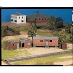 Bachmann 45983 O Plasticville U.S.A. Classic Kits Hobo Jungle Two Shacks Boxcar & Outhouse 160-45983