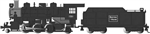 BAC51530 Bachmann Industries HO 2-6-2 Prairie w/Smoke & Tender, B&M #1501