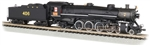 Bachmann 53452 N 4-8-2 Light Mountain Sound and DCC Louisville & Nashville #406 graphite