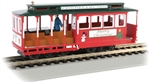 Bachmann 60535 HO Cable Car w/ Grip Man Standard DC Christmas North Pole & Southern Railroad green 160-60535