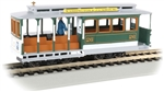 BAC60536 Bachmann Industries HO Cable Car w/fig grn/gray 160-60536