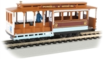 Bachmann 60537 HO Cable Car w/ Grip Man Standard DC Powell & Hyde Streets 2 tan 160-60537