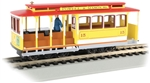 BAC60538 Bachmann Industries HO Cable Car w/fig ylw/red 160-60538