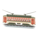 Bachmann 61085 N Brill Trolley Standard DC Christmas Happy Holidays