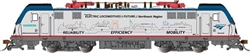 Bachmann 67406 HO Siemens ACS-64 Electric DCC and Sound Amtrak 602 Mobility Scheme Silver