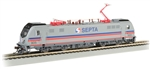 Bachmann 67408 HO Siemens ACS-64 Electric DCC and Sound Southeastern Pennsylvania Transportation Authority SEPTA 901 Silver