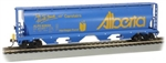 Bachmann HO 73806 Canadian Cylindrical 4-Bay Grain Hopper Flashing FRED Province of Alberta 628311 Carstairs