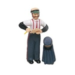 Bachmann 92313 G Figures Station Agent w/Coat & Hat