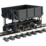 Bachmann 92503 G 4-Wheel Sd Ore Car Blk 160-92503 BAC92503