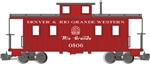 Bachmann 93803 G Eight-Wheel Wood Center-Cupola Caboose Denver & Rio Grande Western 0506