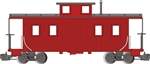 Bachmann 93804 G Eight-Wheel Wood Center-Cupola Caboose Painted Unlettered