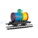 Bachmann 98089 G Tank Car Li'l Big Haulers Spectrum Paints Rainbow