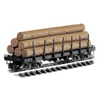 Bachmann 98470 G Log Car Flat w/Logs Painted Unlettered