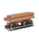 Bachmann 98490 G Skeleton Log Car w/Logs