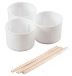 Badger 126 Color Mixing Kit Contains 3 Re-Usable 1/2oz Plastic Cups 3 Stir Sticks 165-126