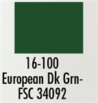 Badger 16100 Modelflex Paint Military Colors 1oz European Dark Green