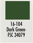 Badger 16104 Modelflex Paint Military Colors 1oz Dark Green
