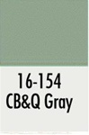 Badger 16154 Modelflex Paint 1oz Chicago Burlington & Quincy Gray