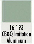 Badger 16193 Modelflex Paint 1oz Chicago Burlington & Quincy Imitation Aluminum