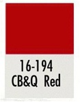 Badger 16194 Modelflex Paint 1oz Chicago Burlington & Quincy Red