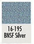 Badger 16195 Modelflex Paint 1oz Burlington Northern & Santa Fe Silver