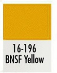 Badger 16196 Modelflex Paint 1oz Burlington Northern & Santa Fe Yellow