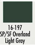 Badger 16197 Modelflex Paint 1oz Southern Pacific / Santa Fe Overland Light Gray
