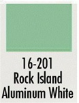 Badger 16201 Modelflex Paint 1oz Rock Island Aluminum White