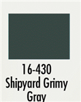 Badger 16430 Modelflex Paint Marine Colors 1oz Shipyard Grimy Gray