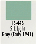Badger 16446 Modelflex Paint Marine Colors 1oz 5-L Light Gray Early 1941