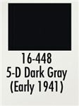 Badger 16448 Modelflex Paint Marine Colors 1oz 5-D Dark Gray Early 1941
