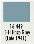 Badger 16449 Modelflex Paint Marine Colors 1oz 5-H Haze Gray Late 1941