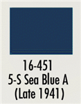Badger 16451 Modelflex Paint Marine Colors 1oz 5-S Sea A Blue Late 1941
