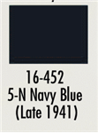 Badger 16452 Modelflex Paint Marine Colors 1oz 5-N Navy Blue Late 1941