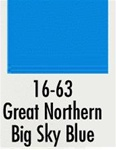 Badger 1663 Modelflex Paint 1oz Great Northern Big Sky Blue