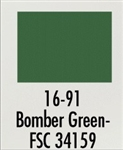 Badger 1691 Modelflex Paint Military Colors 1 Ounce Bomber Green 165-1691