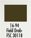 Badger 1694 Modelflex Paint Military Colors 1oz Field Drab