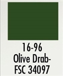 Badger 1696 Modelflex Paint Military Colors 1oz Olive Drab