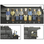 Broadway Limited 1004 HO Engineer & Fireman Figure Sets Style A & B Pkg 2