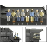 Broadway Limited 1006 HO Engineer & Fireman Figure Sets Press Fit or Glue for All BLI Engines Style A B C & D Pkg 4