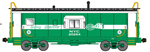 Bluford Shops 40160 N International Car Half-Bay Window Caboose New York Central 20284