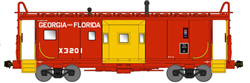 Bluford 41080 N International Car Bay Window Caboose Phase 1 Georgia & Florida X3201