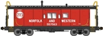 Bluford 43031 N International Car Bay Window Caboose Phase 3 Norfolk & Western 557578 Hamburger Logo