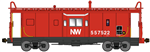 Bluford Shops 43060 N International Car Bay Window Caboose Phase 3 Norfolk & Western 557522